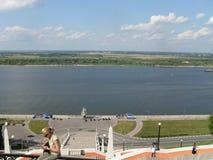 Opinião do verão de Rússia Nizhny Novgorod Volga Foto de Stock