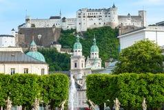 Opinião do verão de Salzburg, Áustria Foto de Stock Royalty Free