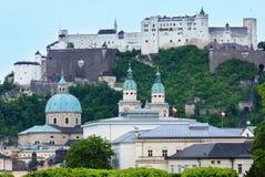 Opinião do verão de Salzburg, Áustria Foto de Stock