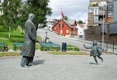 Opinião do verão de Tromso Fotos de Stock Royalty Free