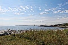 Opinião do verão do Lago Michigan Foto de Stock Royalty Free
