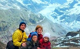 Vista a Kaunertal Gletscher (Áustria) Fotos de Stock