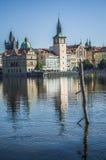 Opinião do verão Rio Vltava praga República checa Fotografia de Stock