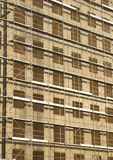 Opinião do vertical do local da construção civil Foto de Stock
