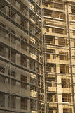 Opinião do vertical do local da construção civil Imagem de Stock