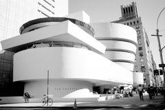 Opinião do vintage do museu de Guggenheim - NYC fotos de stock royalty free