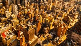 Opinião do zangão de New York imagens de stock