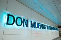 Opinião Don Mueang International Airport Fotos de Stock