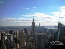 Opinião dos arranha-céus do Lower Manhattan Foto de Stock