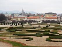 A opinião dos jardins do Belvedere Imagem de Stock