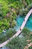 Opinião dos lagos Plitvice fotos de stock royalty free