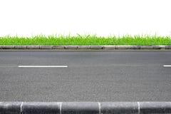 Opinião e grama da borda da estrada foto de stock