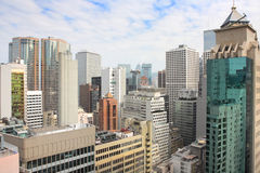 Opinião elevada de Honkong fotos de stock