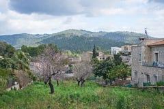 Opinião Es Capdella da vila Foto de Stock Royalty Free