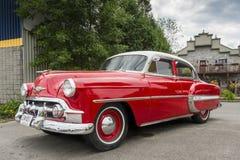 Opinião esquerda dianteira de Chevrolet Bel Air 1953 Fotografia de Stock Royalty Free