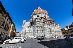 Opinião exterior Florence Cathedral em Itália Foto de Stock