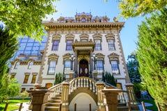 Opinião exterior Leland Stanford Mansion, Sacramento imagem de stock