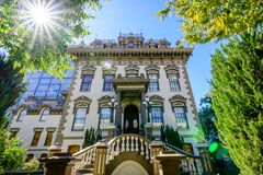 Opinião exterior Leland Stanford Mansion, Sacramento imagens de stock royalty free