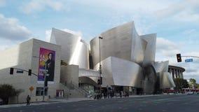 Opinião exterior Walt Disney Concert Hall video estoque