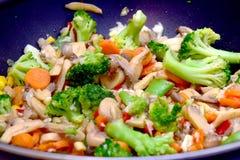 Opinião fritada do alimento do vegetariano Foto de Stock Royalty Free