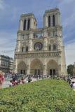 Opinião frontal Notre-Dame Paris, France fotografia de stock