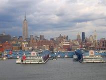 Opinião geral de New York City Manhattan imagens de stock