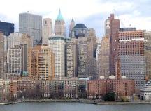 Opinião geral de New York City Manhattan Fotos de Stock Royalty Free
