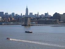 Opinião geral de New York City Manhattan foto de stock royalty free