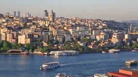 Opinião geral do verão em Instanbul, Turquia vídeos de arquivo