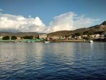 Opinião geral Puerto López em Manabi, Equador Fotografia de Stock