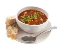 Opinião global de bacia de sopa Imagens de Stock Royalty Free