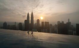 Opinião grande da manhã da cidade Fotografia de Stock Royalty Free