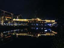 Opinião Guilin da noite, China fotografia de stock royalty free