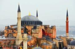Opinião Hagia Sofia Mosque (mesquita cor-de-rosa) em Istambul, Turquia Imagem de Stock