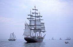 Opinião holandesa da proa de Stad Amsterdão do sailship do treinamento Imagens de Stock Royalty Free