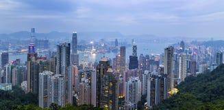 Opinião Hong Kong Harbour Foto de Stock