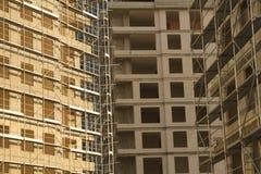 Opinião horizontal do local da construção civil Imagens de Stock