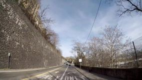 Opinião Hyperlapse 4K de Hoboken NYC vídeos de arquivo