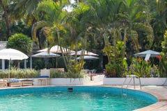 Opinião indiana do hotel de GOA fotografia de stock royalty free