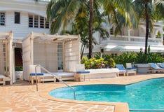 Opinião indiana do hotel de GOA imagens de stock