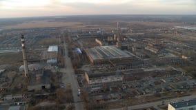 Opinião industrial aérea da paisagem filme
