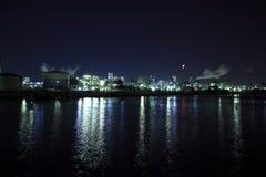 Opinião industrial da noite fotos de stock