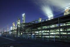 Opinião industrial da noite fotos de stock royalty free