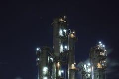 Opinião industrial da noite fotografia de stock royalty free