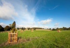Opinião inglesa da paisagem no outono adiantado Fotos de Stock