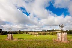 Opinião inglesa da paisagem no outono adiantado Foto de Stock