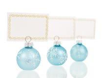 Opinião inline de suportes de cartões do lugar do Natal Fotos de Stock Royalty Free