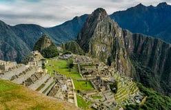 Opinião inteira de Lanscape de Machu Picchu, Peru imagens de stock