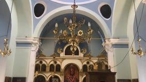 Opinião interior da capela video estoque