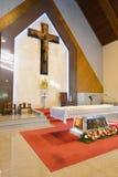 Opinião interior da igreja em Banguecoque Foto de Stock